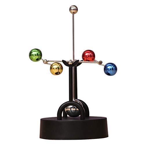 TOYANDONA Equilibrio de Física Eléctrica Péndulo Newton Cuna Mecánica Ciencia Juguetes Arte Cinético Movimiento Perpetuo Escritorio Juguete Oficina en Casa Escritorio Decoración