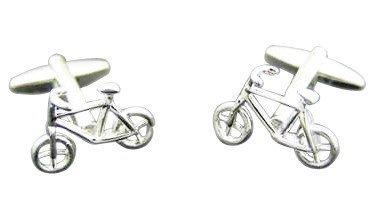 Gemelolandia | - Gemelos bicicleta, color acero Gemelos Originales Para Camisas | Para Hombres y Niños | Regalos Para Bodas, Comuniones, Bautizos y Otros Eventos