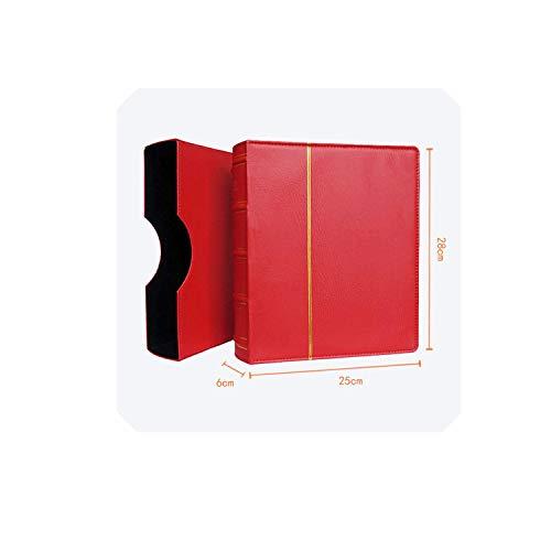 Hard Cover 70 Blatt 25 * 28cm Münze Buchhalter-Dollar-Geldschein Sammlung Geld-Münzen-Schutz Buch Gedenkmünzen Album, Red 20 Mix