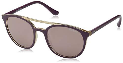 Vogue 0Vo5195S Gafas de sol, Top Dark Violet/Glitter Yellow, 52 para Mujer