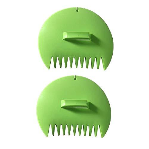 Laubsammler Kunststoff Leaf Schaufeln Laubgreifer Handrechen Garten Laubpicker für Blätter, Gras, grünschnitt und Garbage