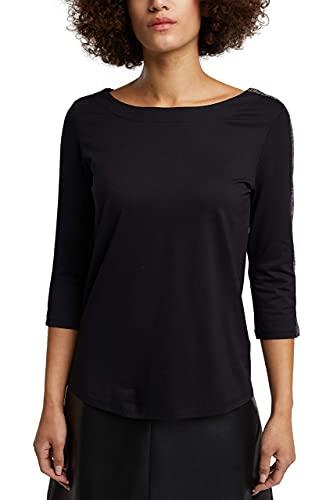 Esprit 110EE1K314 T-Shirt, 001/Noir, XS Femme