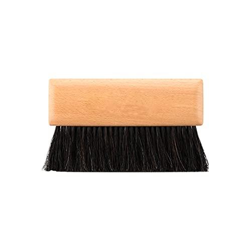 STRMSF Cepillo de limpieza manual con mango de madera, suave, flexible, resistente a la humedad, duradera, portátil, multiusos, para limpiar el coche, cama, sofá, muebles