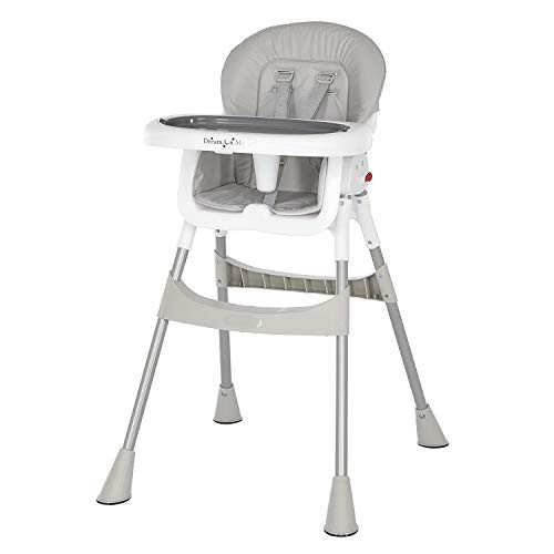 Dream On Me Portable 2-in-1 Tabletalk High Chair |Convertible |Compact High Chair |Light Weight Portable Highchair, Pink (244-PNK)