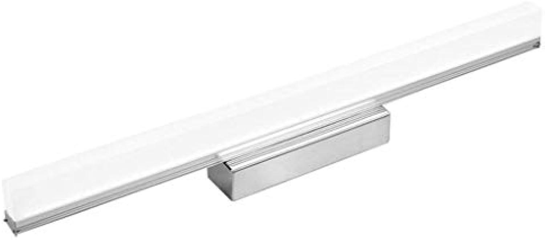 Led-spiegelleuchte vor Antifog wasserdicht, badezimmer-spiegel-wandleuchte licht lampe acryl übertragung lampe aus edelstahl gesamtlnge 39 cm   49 cm   59 cm   69 cm   89 cm (farbe  whi, lange 89