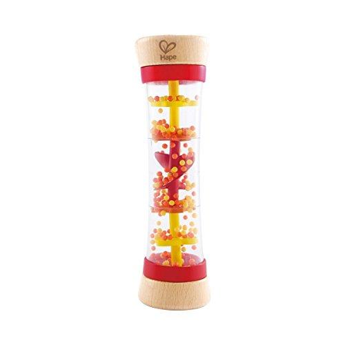 Hape Le bâton de Pluie bébé, Rouge/Jaune/Naturel