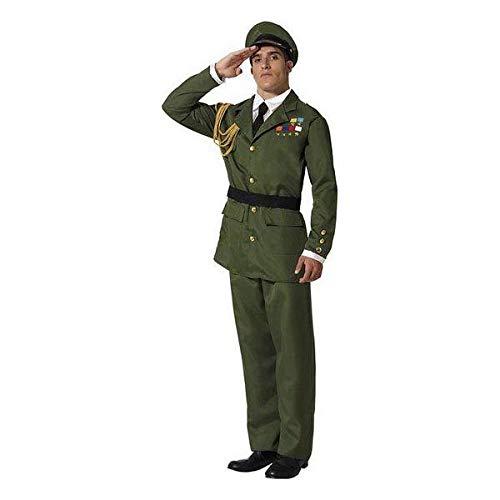 ATOSA disfraz militar adulto oficial verde XL