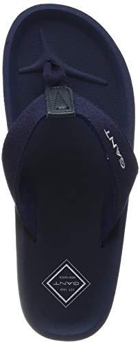 GANT Footwear Herren Breeze Zehentrenner, Blau (Marine G69), 44 EU