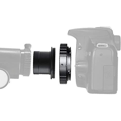 SOLOAMRK - Adaptador de metal para cámara telescópica de 1,25 pulgadas y adaptador de anillo T Sony Alpha T2 para cámaras réflex digitales Sony Alpha