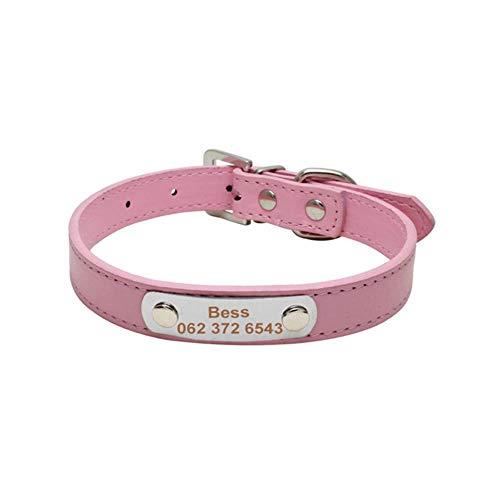 Collar De Perro Collares De Perro Personalizados Etiquetas De Identificación De Collar De Cachorro De Gato Personalizados Número De Teléfono De Nombre Grabado Gratis Para Perros Pequeños Medianos Xs-
