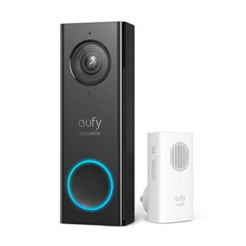 eufy Security, Video-Türklingel mit WLAN-Funktion, 2K HD, ohne monatliche Gebühren, (benötigt bestehende Türklingel-Leitungen, 16-24 VAC, 30 VA oder höher) (Generalüberholt)