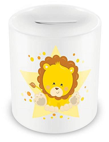 Samunshi® - Hucha infantil diseño cerdito multicolor