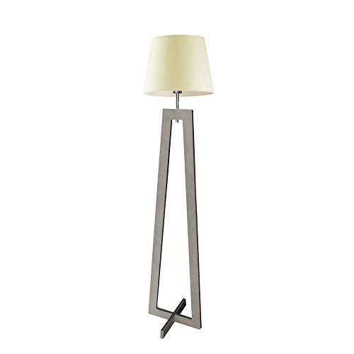 Kos - Lámpara de pie de madera para lámpara de techo (marco de madera de cenicero), color crudo