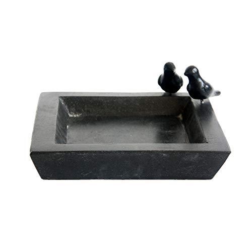 Fallen Fruits Terrazzo Baignoire carrée pour Oiseaux Noir