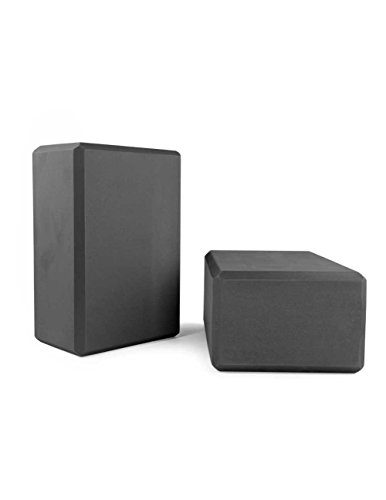 Yogablock, Zweierpack, schwarz, ca. 22 x 15 x 10 cm dick