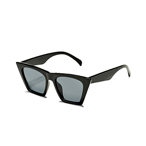 COASION Vintage Square Cat Eye Sunglasses for Small Faces...