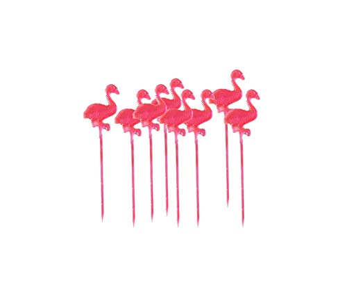 OUNONA 50pcs Kreative Flamingo Partypicker Frucht Stucke Cupcake Toppers fur Partei Dekoration