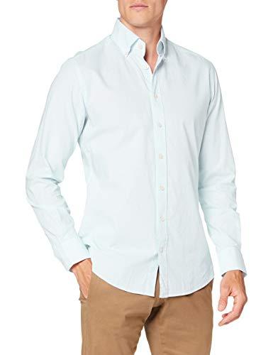 Photo of Hackett Largeondon Men's WASHED OX TICKING STR Shirt, 6akgreen/white, Small