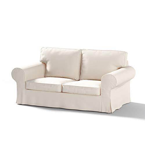 Dekoria Ektorp 2-Sitzer Schlafsofabezug ALTES Modell Sofahusse passend für IKEA Modell Ektorp naturweiß