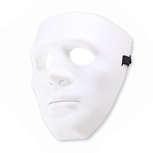 Bello Luna weißes volles Gesichtsmaske Hip Hop Tanz Mode Cosplay Maske für Halloween Masquerade Party