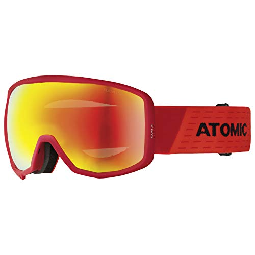 ATOMIC Unisex Jugend Count JR Spherical Goggles, Rot-Schwarz/Rot Flash, One Size