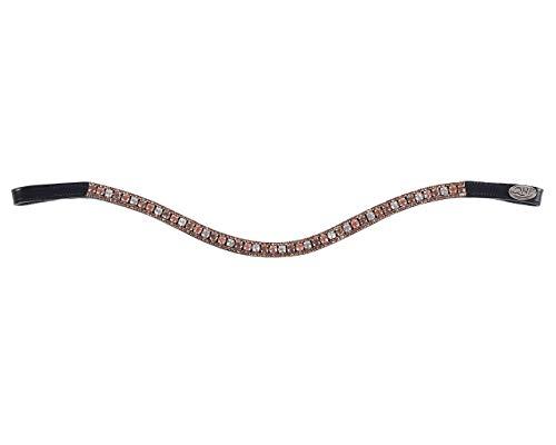 QHP Stirnband Sevilla schwarz beige, Größe:Full