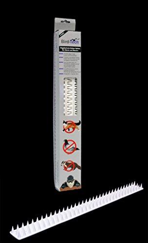 3 Metros en Piezas de 50cm Pinchos Anti-aves y anti-gatos 10 Polipropileno anti UV (blanco)