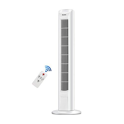 AHAI YU Torre de la Oficina del Ventilador de 30 Pulgadas 45W Blanca silencioso Oscilación 3 Speed Cold Temporizador Aire (Size : IVTVJBJ)
