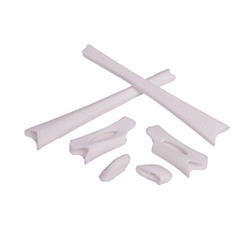 Walleva Ohrenschützer und Nasenpolster für Oakley Flak Jacket/Flak Jacket XLJ (Weiß)