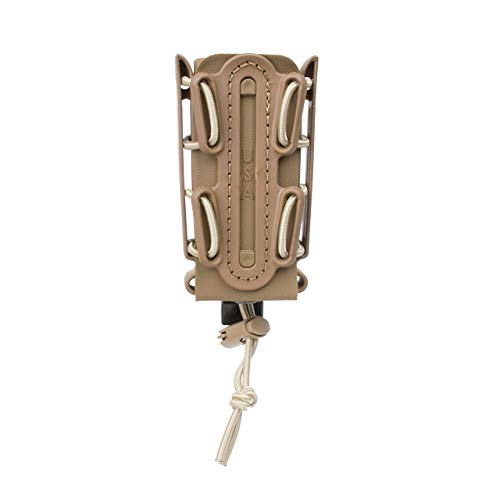 G-CODE (TAN) Soft Shell Scorpion -Tall- Pistol Mag Carrier with P1 molle/Stacking Clip 100% Made in The USA (1153-3C)