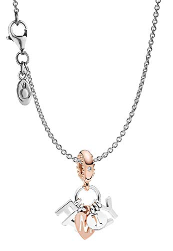 Pandora Damen-Kette Perfect Family eleganter Halsschmuck, wunderschönes Geschenk-Set für modische Frauen, 39489