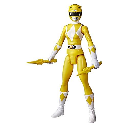 Power Rangers Figura de acción Yellow Ranger de 12 Pulgadas