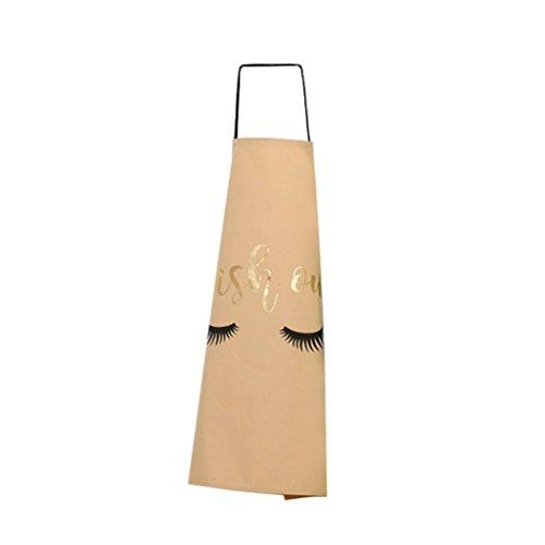 Teenxful Bluelans Joli motif dorure cils ménagers de cuisine cuisson Tablier Coton Cook Porter 72cm x 56cm/28.35\