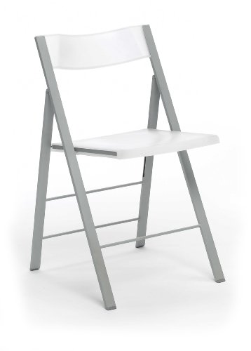 duehome Silla Plegable sillas taburetes, Color Blanco