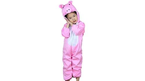 MATISSA Kinder Tierkostüme Jungen Mädchen Unisex Kostüm Outfit Cosplay Kinder Strampelanzug (Schwein, XL (Für Kinder von 120 bis 140 cm))
