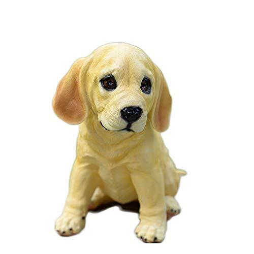 sknonr Golden Retriever Jardin Résine Artisanat Animal Accueil Décorations Cute Pet Chanceux (Color : Sit)