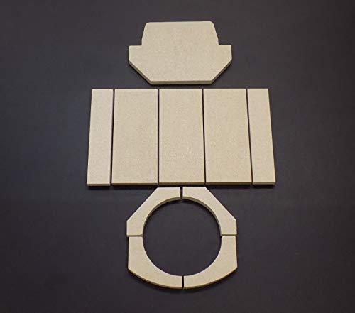 Feuerraumauskleidung für Dan Skan Solo Kaminöfen - Vermiculite - 10-teilig