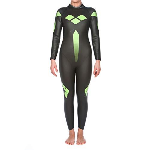 arena Damen Profi Triathlon Neoprenanzug (Optimale Wasserlage, Verbesserte Bewegungsfreiheit), Black (50), S