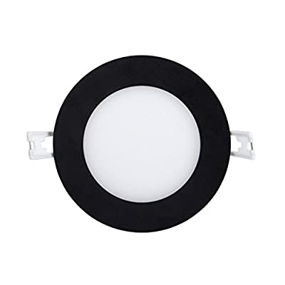 LED Recessed Light Fixture 4 inch Round with Driver, 12W, 720 Lumens, 120V, Low Profile, Dimmable, Energy Star and IC Rated