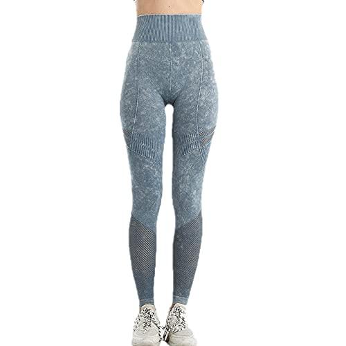 N\P Pantalones de yoga de las mujeres a rayas de los deportes de la cintura alta de la cadera de levantamiento de la fitness pantalones de las