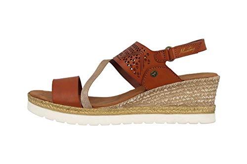 MUSTANG Shoes Sandaletten in Übergrößen Braun 1317-802-301 große Damenschuhe, Größe:45