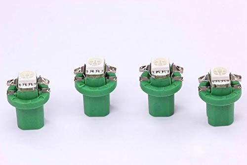 4x grüne high Power B8.5D SMD-LED Tachobeleuchtung Umbauset Plug and Play