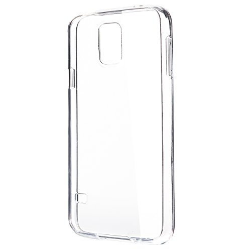 Ailun Phone Case Compatible with Galaxy S5 Shock-Absorption Bumper Ultra Slim TPU Cover Anti-Scratches Oil Stains Fingerprints Siania Retail Package Crystal Clear for Galaxy S5 i9600