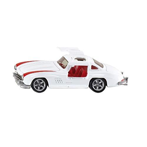 SIKU 1470, Mercedes-Benz 300 SL, Metall/Kunststoff, Weiß/Rot, Spielzeugauto für Kinder, Öffenbare Flügeltüren