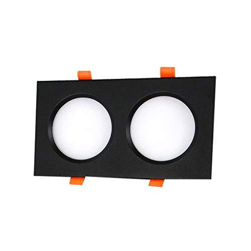 WRMOP LED paneel gang woonkamer geïntegreerd licht radiator grill vierkant zwart ultradunne plafondlamp schaal voor kantoor thuis R/19/12/30