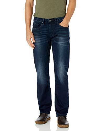 Buffalo David Bitton Herren Six Slim Straight Jeans - Blau - 34W / 30L