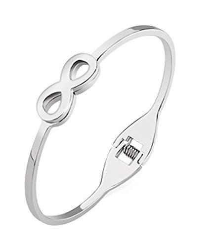 Daesar Damen Armband Edelstahl Unendlich 3 MM Wickelarmbänder Silber Parterarmband
