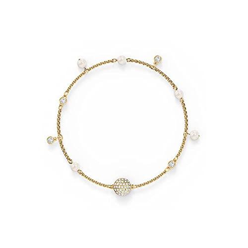 GaYouny Elegante Perla de Cristal Diamante Invisible Broche magnético Colgante Pulsera Linda y Plateada Delicada (Color : 2)