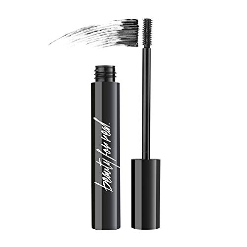 Beauty for Real Hi-Def Mascara, Just Black - Defining & Volumizing Lash Definer, Curls Lashes - Humidity & Smudge Proof - Micro Brush Ensures Versatile Application - 0.31 fl oz