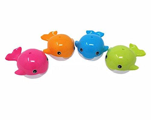 Honbay 4pcs Colorful Cute Cartoon Whale Double Hole Pencil Sharpeners